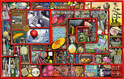 CEACO IMAG*IN*A*DREAM JIGSAW PUZZLE BIG RED BOX COLIN THOMPSON 750 PCS
