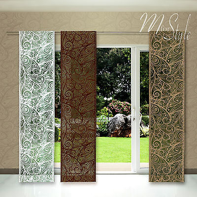 Quality Net Sheer Lace Window Panel Blind Curtain Fly Screen Slot top