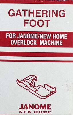 Janome Gathering Foot - Overlocker, Serger, Ruffles, Heirloom Puffing, Snap On