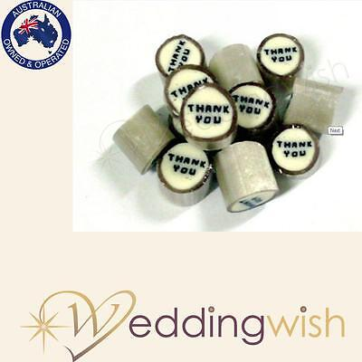 500g Rock Candy Wedding Favour/Bomboniere - Thank You, Fast Dispatch