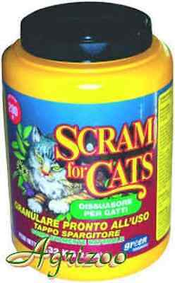 DISABITUANTE REPELLENTE SCRAM FOR CATS DISSUASORE PER GATTI 550 gr.