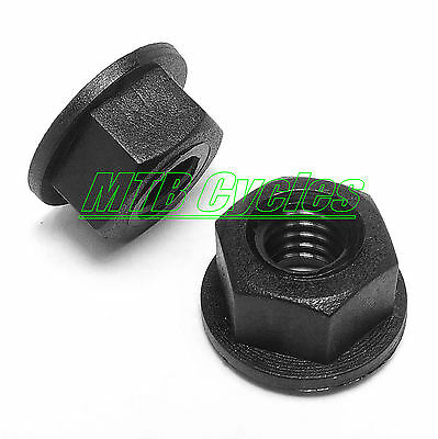 Pack of 25 BLACK Nylon Plastic Washer Faced Hex Flanged Nuts M3 M4 M5 M6 M8