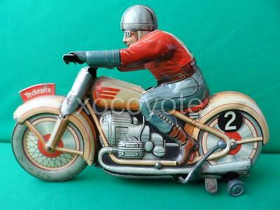 1950's TECHNOFIX GE 255 RACE MOTORCYCLE TIN TOY MADE IN GERMANY NO RESERVE!!