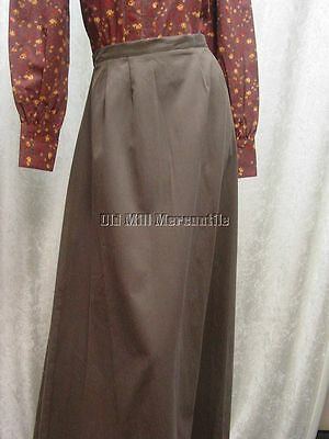 Ladies Victorian Edwardian style walking skirt BROWN Sizes XSmall-XXLarge