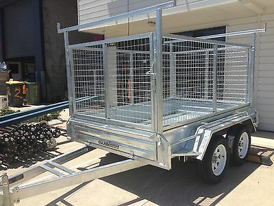 9x5 HEAVY DUTY GALVANISED BOX TRAILERS TANDEM FREIGHT ANYWHERE EX BRISBANE