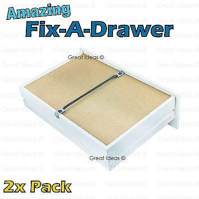 Fix A Drawer x 2 - Repair Sagging Bedroom Chest of Drawers Furniture VALUE PACK