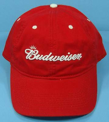 BUDWEISER Adjustable Red Cap Hat *THE GAME*