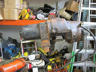 Yale Load King 1 Ton Electric Wire Rope Hoist 220V 3 Phase 15 Foot Lift Vintage