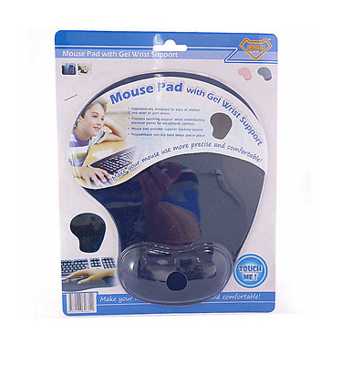 Anti-Slip Mouse Pad / Mouse Mat with Gel Wrist Support for PC, Mac, Laptop