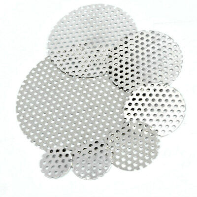 304 Stainless PERFORATED DISCS Vents Filters - 9 Sizes Sheet Metal 3mm Hole