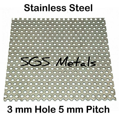 Stainless Steel Perforated Sheet 304 - 9 Medium Popular Sizes Guillotine Cut