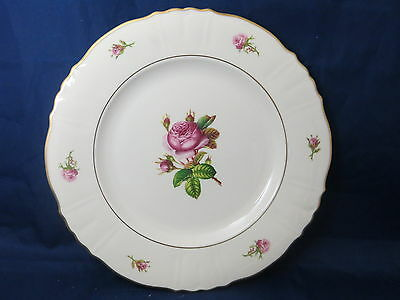 "SYRACUSE CHINA - Victoria - Rose Center - LARGE 10 1/2"" diam DINNER PLATE - 35A"