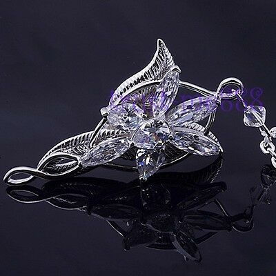 New Vintage Lord of the Rings Movie Arwen Evenstar Silver Pendant Necklace Gift
