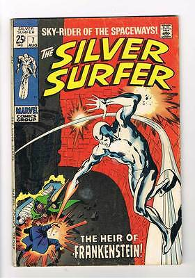 Silver Surfer # 7  The Heir of Frankenstein !  grade 5.5 scarce hot book !!