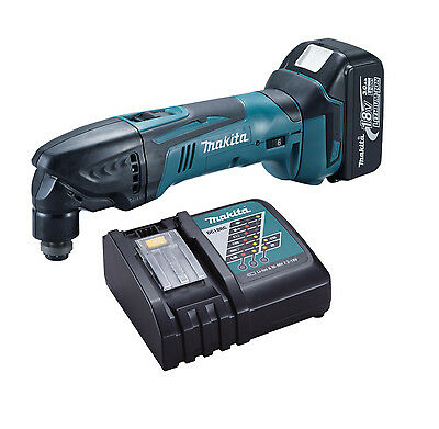 Makita LXT 18V Cordless Multicutter DTM50Z + 1 BL1830 Battery + DC18RC Charger