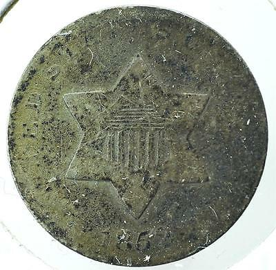 1852 Silver Three Cent, Ships for Free, 3CA3
