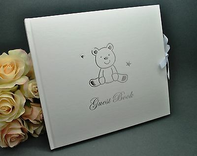 Guest Book - Teddy Bear - Birthday, Christening, Baby Shower, Guest Book, Naming