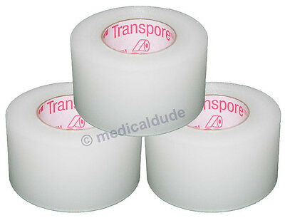 "3M Transpre Clear Surgical First-Aid Tape 1"" x 10yd #1527-1 3 Rolls"
