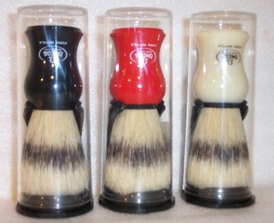 OMEGA SHAVE Natural Bristle Shaving Brush & Stand, Choice of Three Colors SB-500