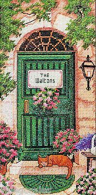 """Dimensions Gold Counted Cross Stitch kit 4"""" x 8"""" ~ TUSCAN WELCOME #70-65126 Sale"""