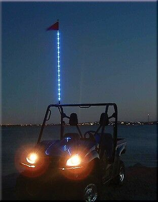 Tribal Whips 4' Nightstalker LED lighted Whip utv antenna 6 colors