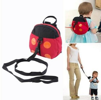 Childrens Toddler's ladybird backpack with Safety Reins New Child Rucksack Bag