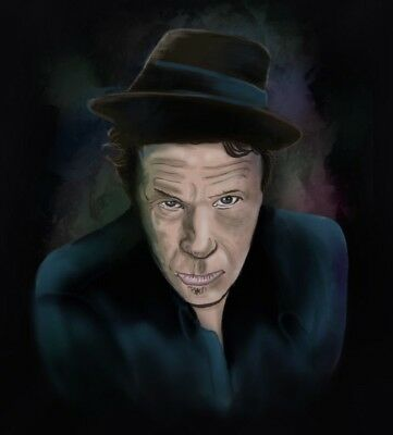 Airbrush Portrait of Tom Waits T-Shirt in all sizes