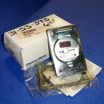 Thomas & Betts Russellstoll 125V 20A Ever-Lok Receptacle, 8003U-1 *New* *Pzb*