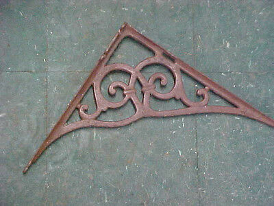 "BS3 vintage shelf bracket metal cast iron HEAVY duty 14"" H x 15"" L"
