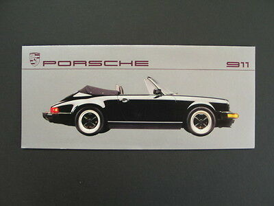Vintage- PORSCHE A.G.-USA Dealer Ordering Brochure 1987 911 Coupe Targa Cabrio.