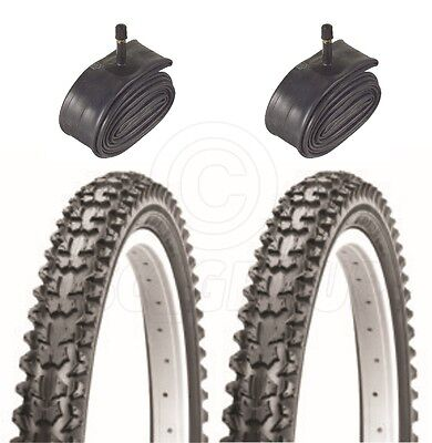 2 Bicycle Tyres Bike Tires - Mountain Bike - 26 x 1.95 - With Schrader Tubes