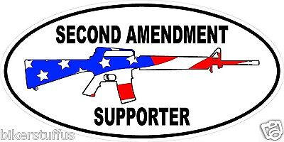 2Nd Amendment Supporter Sticker (Lot Of 3) Laptop Sticker Toolbox Sticker
