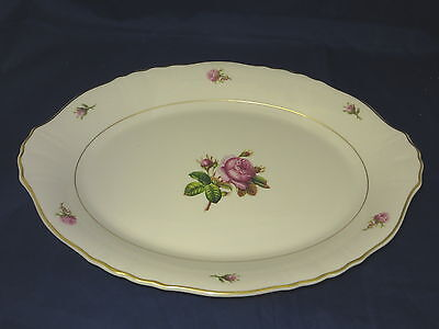 "SYRACUSE CHINA - Victoria - Rose Center - SERVING PLATTER 14 1/8"" long - 35A"