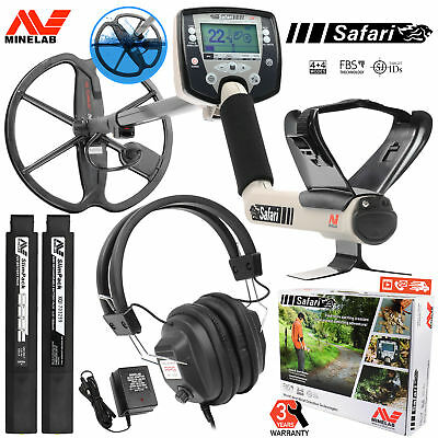 """Minelab Safari Pro Pack with 11"""" Search Coil Headphones and Rechargeable Battery"""