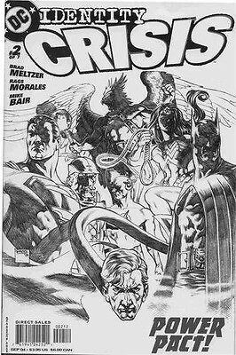 Identity Crisis #2 Of 7 Vf+ - Vf/nm Sketch Variant Cover