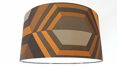 LAMPSHADE made from. MURIVA HEXAGON 3D EFFECT   Canvas Texture Wallpaper..