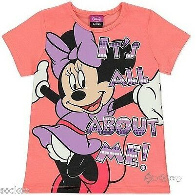 Girls Ex George Minnie Mouse T Shirt Top Ages 1-6 Years Disney