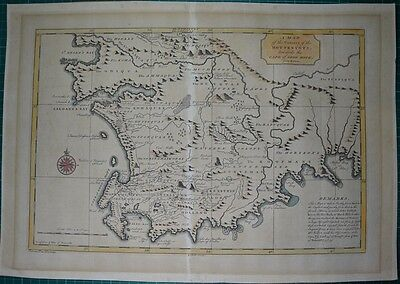 Südafrika Map of the Country of the Hottentots, Kupferstich Karte Salmon 1752