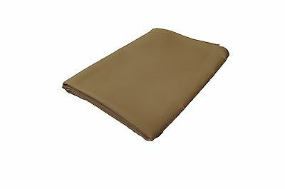 "Lot of 5 each 52"" x 52"" VISA Oxford Beige Linen Table Cloths. 100% Polyester"