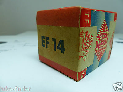 "EF14 / VF14 Telefunken NOS ""low noise tube"" sealed Box tube Röhre Valvola Ultra"