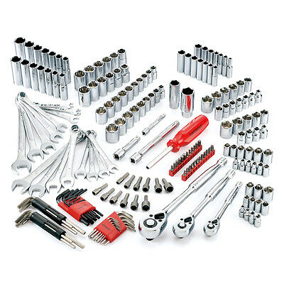 Powerbuilt® 201 Pc SAE & Metric Ratchet and Socket Mechanic Tool Set - 640746