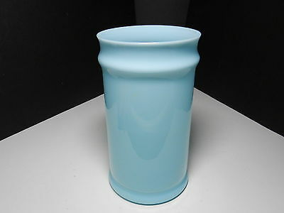 "Morgantown Diplomat Tall Jar No Lid Bristol Blue 11 1/2"" T ca 1950-1960"