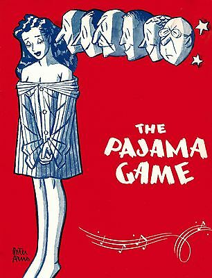 The Pajama Game Broadway Souvenir Program - Fran Warren, Larry Douglas