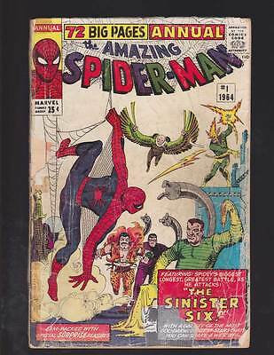 Amazing Spider-Man Annual # 1  Sinister Six grade 1.5 movie scarce hot book !!