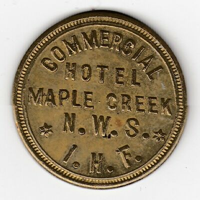 Breton #930. Commercial Hotel, Maple Creek N.W.S.- Post Confederation Token