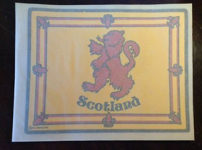 Vintage New Scotland T-Shirt Iron on Transfer Set Of 20 Yellow and Red Lion