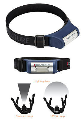 SCANGRIP I-VIEW Rechargeable 2W COB LED Wave Hands-Free Flood Head Torch,SCA1020