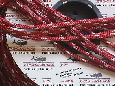 "1/4"" Sta-set Rope, per-10 ft, New England Ropes Red Staset 2101-08"