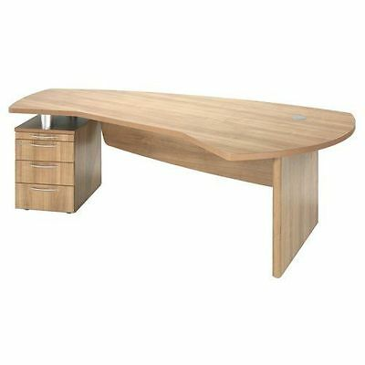 Executive Desk 2200x1190mm with Left Sided Pedestal Option, Cappuccino Finish