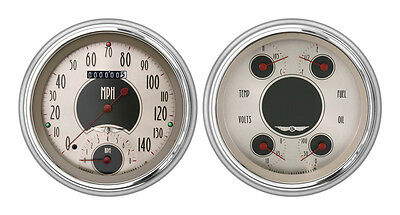 Classic Instruments 51-52 Chevy Car Package w/ All American Nickel Gauges Dash